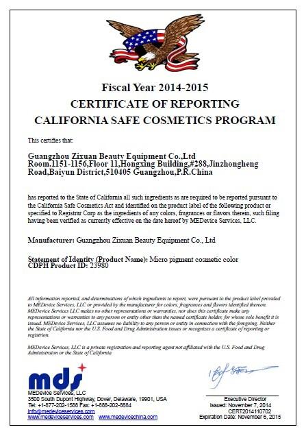 Goochie USA Certificate